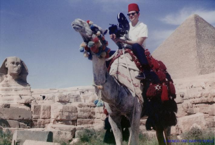 bill on camel pyramids egypt